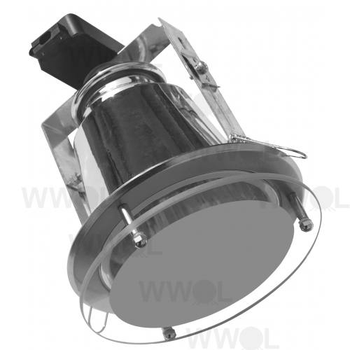 DOWNLIGHT LGE SAT WITH GLASS