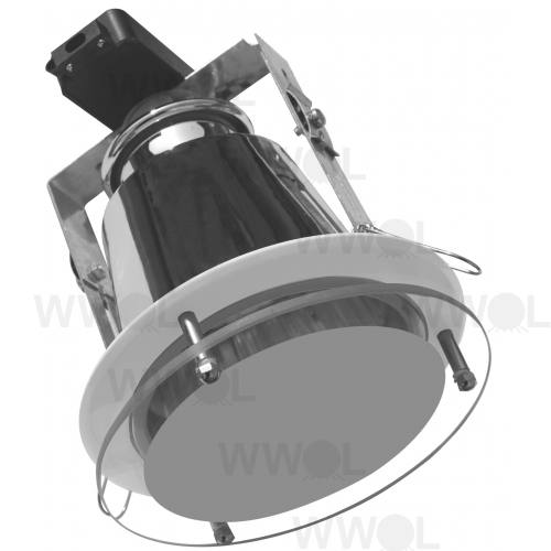 DOWN LIGHT LGE WHITE WITH GLASS