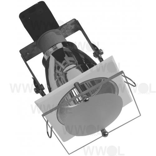 MINI DOWNLIGHT SQUARE WHITE GLASS FRONT