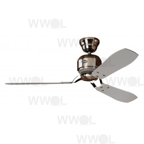 INDUSTRIE II BRUSHED CHROME CEILING FAN