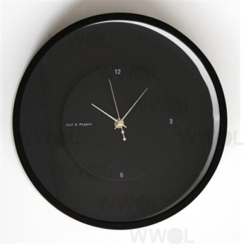 Zone 60cm Black Round Floating Clock