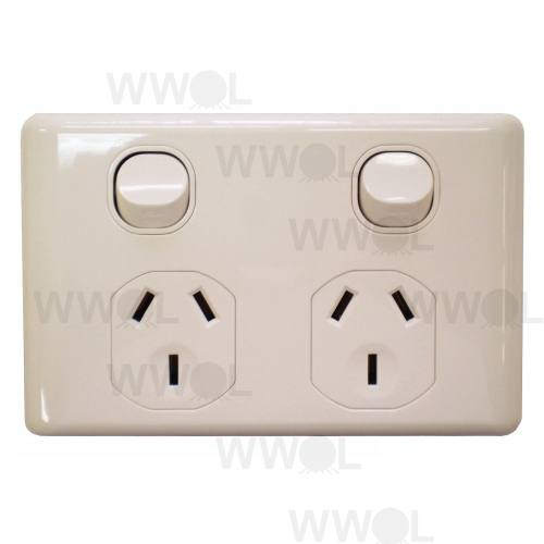 BASIX DOUBLE POWER OUTLET 10 AMP