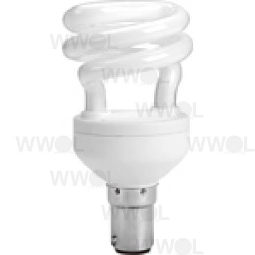 8 WATT T2 SPIRAL B15 WARM WHITE COMPACT FLUORO GLOBE