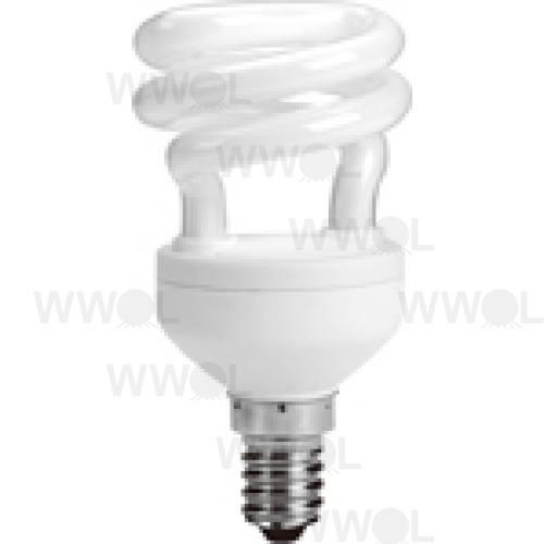 8 WATT T2 SPIRAL E14 WARM WHITE COMPACT FLUORO GLOBE