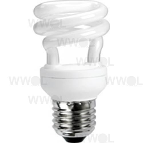8 WATT T2 SPIRAL E27 COOL WHITE COMPACT FLUORO GLOBE
