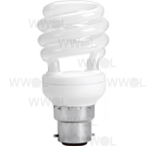 12 WATT T2 SPIRAL B22 COOL WHITE COMPACT FLUORO GLOBE