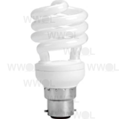 15 WATT T2 SPIRAL B22 WARM WHITE COMPACT FLUORO GLOBE