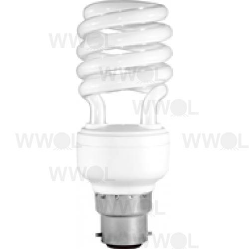 18 WATT T2 SPIRAL B22 WARM WHITE COMPACT FLUORO GLOBE