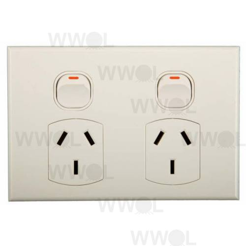 POWER OUTLET DOUBLE GEO 10A