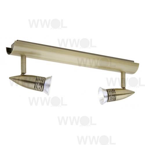 PROTON TRACK LIGHT 2LT A/BRASS