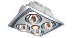 4 HEAT FAN LIGHT 3IN1 COMBO SILVER