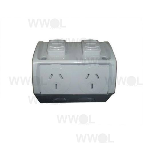 NEW WEATHERPROOF OUTLET DOUBLE 10A