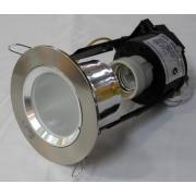 MINI DOWN LIGHT BRUSHED CHROME/FROST GLASS INC CFL LAMP