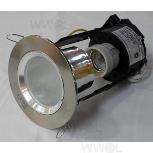 MINI DOWN LIGHT BRUSHED CHROME/FROST GLASS INC CFL LAMP
