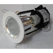 MINI DOWN LIGHT WHITE/FROST GLASS INC CFL LAMP