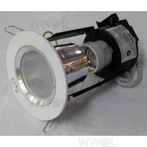 MINI DOWN LIGHT WHITE/FROST GLASS INC CFL LAMP