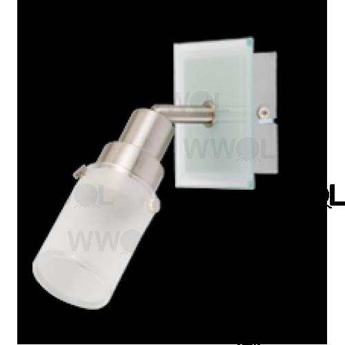 HAMPTON 1 LIGHT E14 SPOT LIGHT/ FROST GLASS
