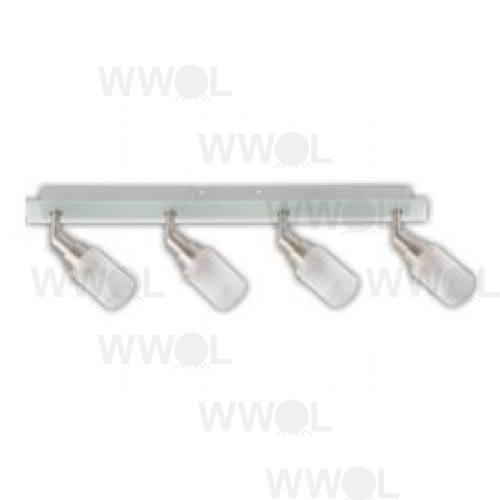 HAMPTON 4 LIGHT E14 SPOT LIGHT/ FROST GLASS