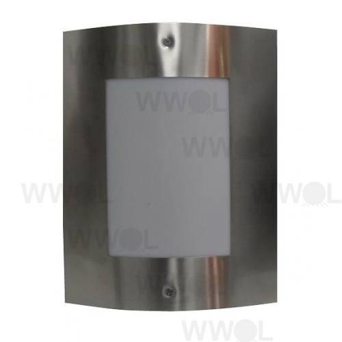 MASK EXTERIOR WALL LIGHT PLAIN FACE STAINLESS STEEL