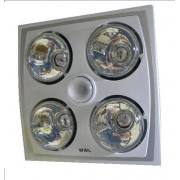 4 HEAT FAN LIGHT 3IN1 COMBO SILVER & WHITE