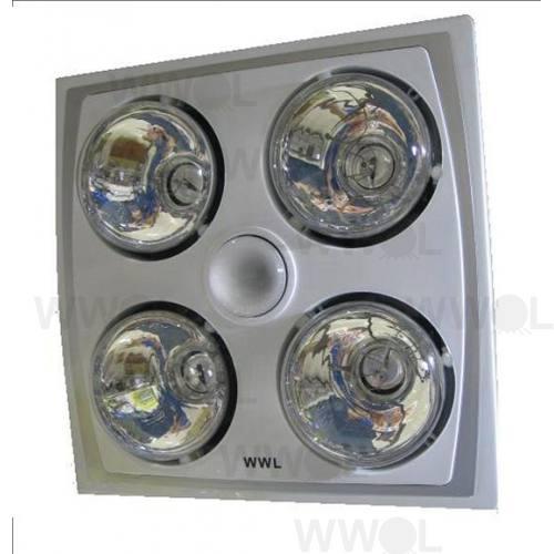 4 HEAT FAN LIGHT 3IN1 COMBO SILVER & WHITE