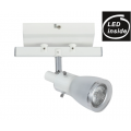 1 LIGHT GLASS WHITE 9 WATT LED TRACK LIGHT