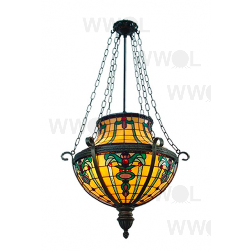 16 INCH FLORAL LEAD LIGHT PENDANT