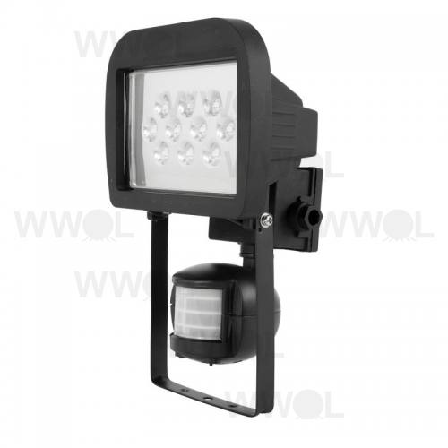 10 WATT SMD LED FLOOD LIGHT INC SENSOR BLACK
