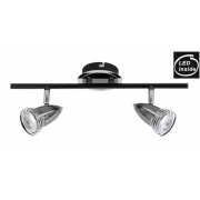 2 LIGHT GUNMETAL 7 WATT LED TRACK LIGHT