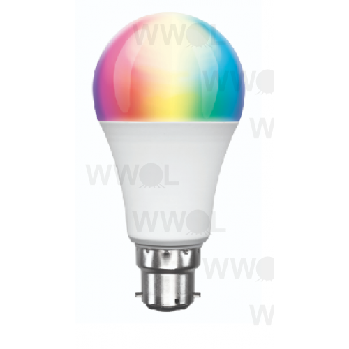 9 WATT A60 B22 LED RGBW SMART WIFI GLOBE