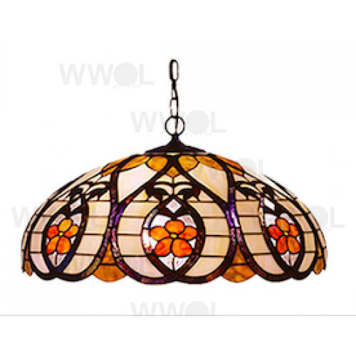 22 INCH FLORAL LEAD LIGHT PENDANT