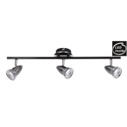 3 LIGHT GUNMETAL 7 WATT LED TRACK LIGHT
