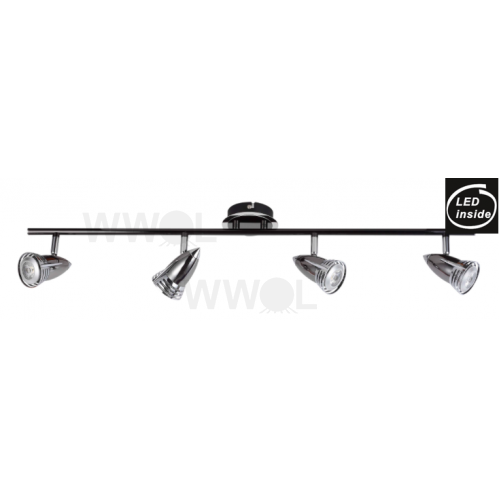 4 LIGHT GUN METAL 7 WATT LED TRACK LIGHT