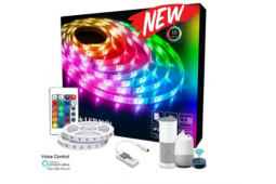 LED RGB RIBBON IP65 10 METER VOICE CONTROL KIT