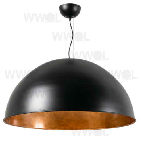 BLACK COPPER LEAF DOME LARGE PENDANT THREE LIGHT