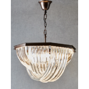 ABERDEEN GLASS SIX LIGHT CHANDELIER