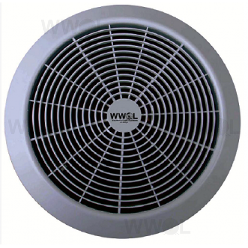AERATE ENERGY EFFICIENT 200MM EXHAUST FAN ROUND SILVER