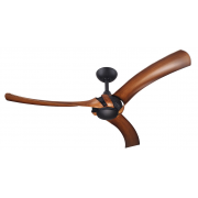 AEROFORCE 2 132CM THREE ABS POLYMER BLADE MATT BLACK KOA CEILING FAN