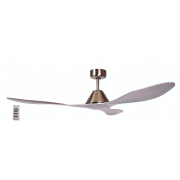 AIR APACHE 130CM BRUSHED NICKEL DC CEILING FAN INC 5 SPEED REMOTE