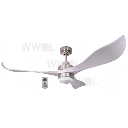 AIR EFFICIENT II SILVER DC CEILING FAN INC LED LIGHT INC 6 SPEED REMOTE