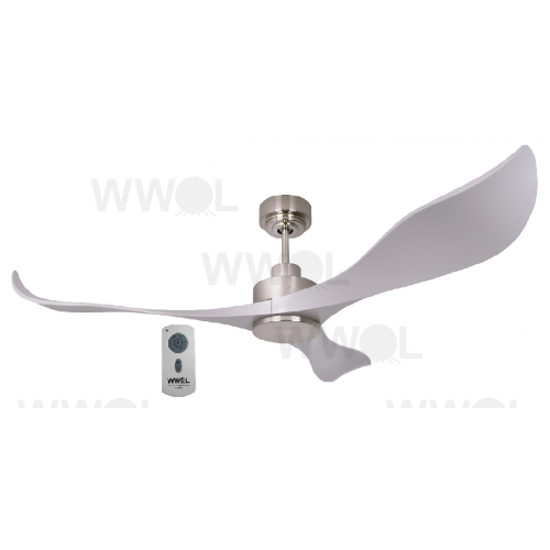 AIR EFFICIENT II SILVER DC CEILING FAN INC 6 SPEED REMOTE