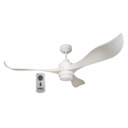 AIR EFFICIENT II WHITE DC CEILING FAN INC LED LIGHT AND 6 SPEED REMOTE
