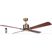 AIR ELITE II DC ANTIQUE BRASS 4 BLADE CEILING FAN INC REMOTE