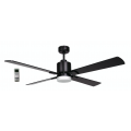 AIR ELITE II DC MATT BLACK 4 BLADE LED LIGHT CEILING FAN INC REMOTE