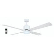 AIR ELITE II DC MATT WHITE 4 BLADE LED LIGHT CEILING FAN INC REMOTE