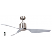 AIR ELITE II DC BRUSHED NICKEL 3 ABS BLADE CEILING FAN INC REMOTE
