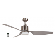 AIR ELITE II DC BRUSHED NICKEL 3 ABS BLADE LED LIGHT CEILING FAN INC REMOTE