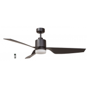 AIR ELITE II DC MATT BLACK 3 ABS BLADE LED LIGHT CEILING FAN INC REMOTE