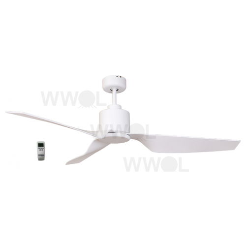 AIR ELITE II DC MATT WHITE 3 ABS BLADE CEILING FAN INC REMOTE