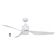 AIR ELITE II DC MATT WHITE 3 ABS BLADE LED LIGHT CEILING FAN INC REMOTE